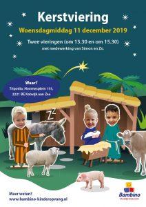 Poster kerstviering 11 december 2019 Katwijk