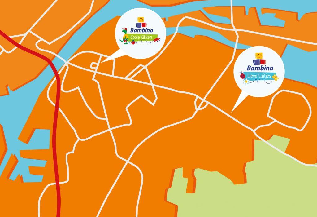 kaart illustratie Dordrecht